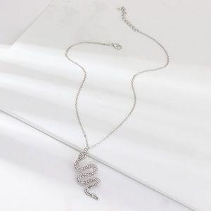 Crystal snake necklace